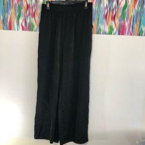 Joe Benbasset black elastic waist wide leg pant